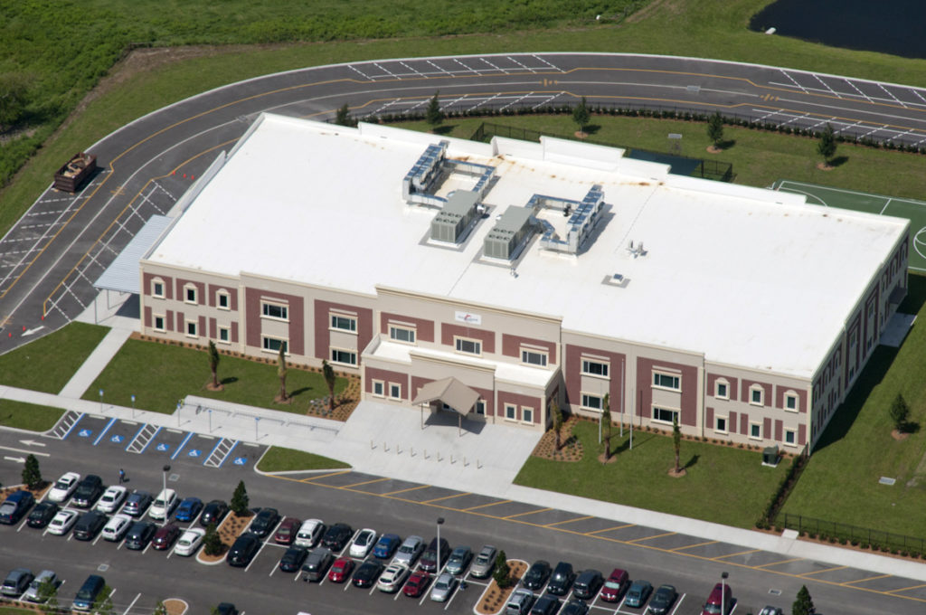 Aerial view of Manatee Charter School by LJB