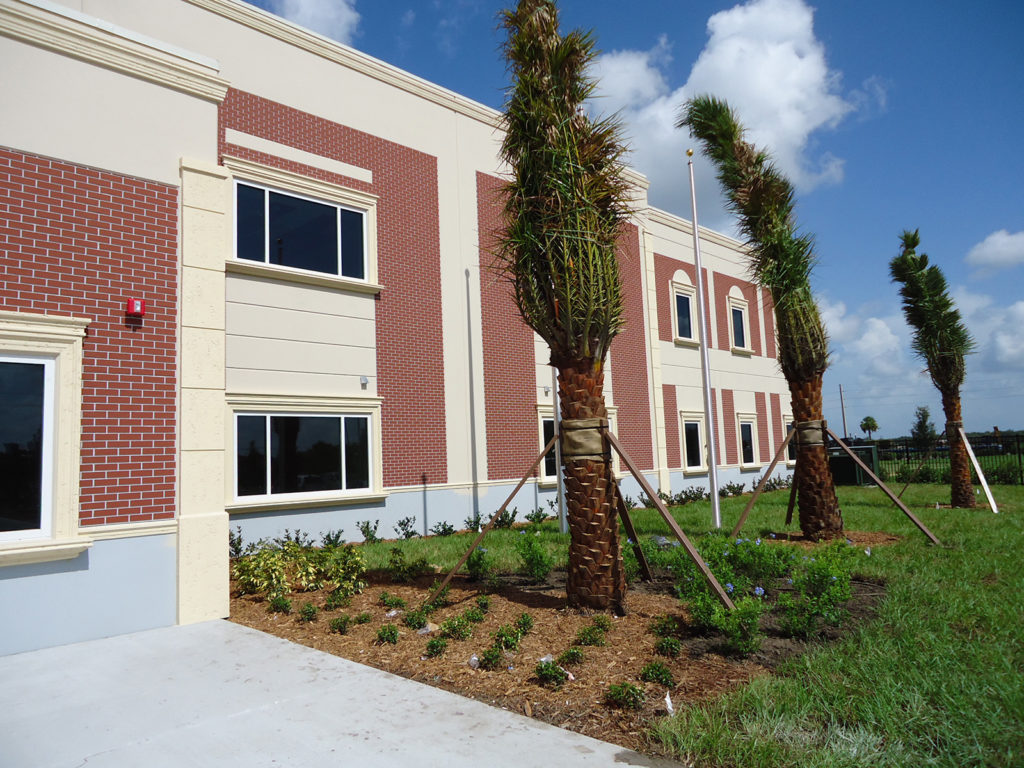 Side view of Manatee Charter School by LJB