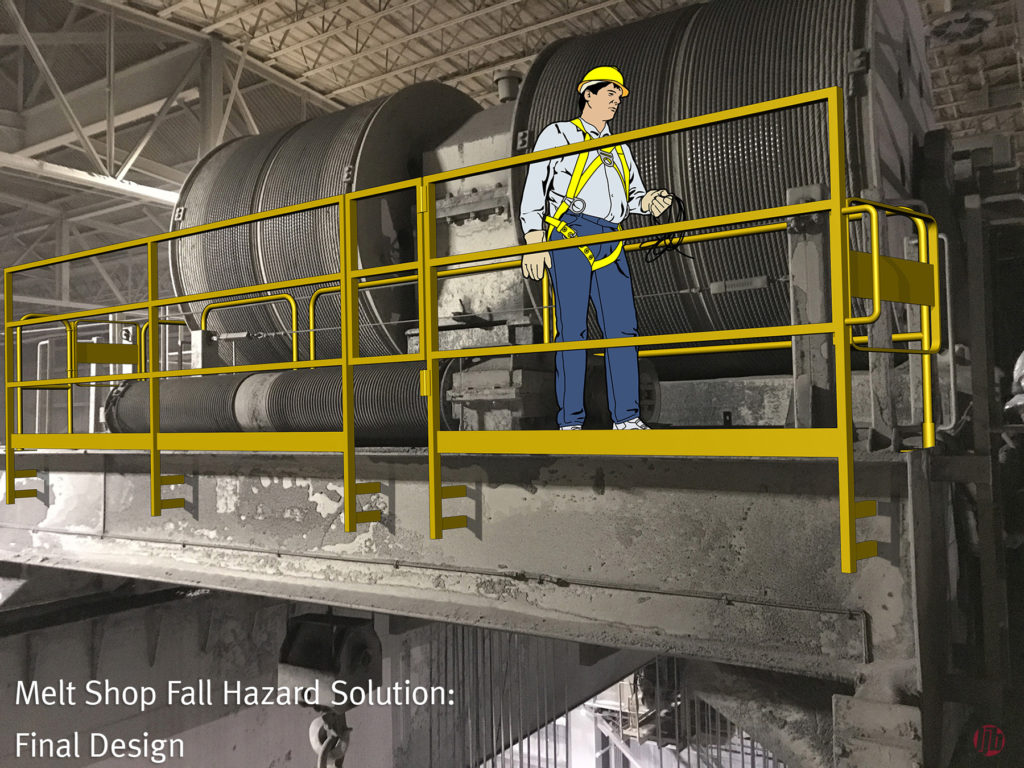 LJB Fall Protection Solution for Melt Shop Maintenance