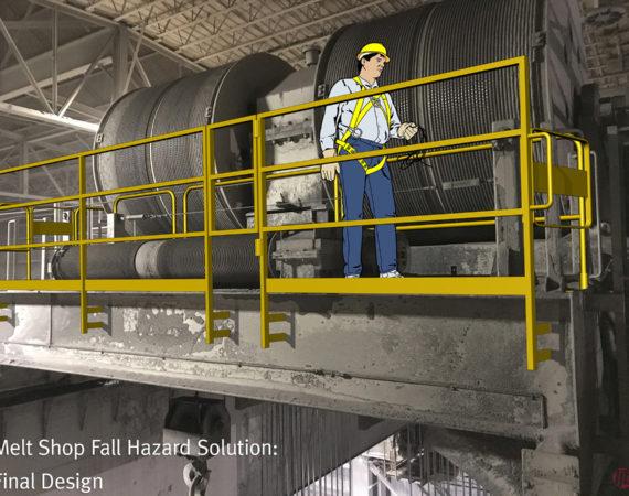 LJB Fall Protection Solution for Melt Shop Maintenance