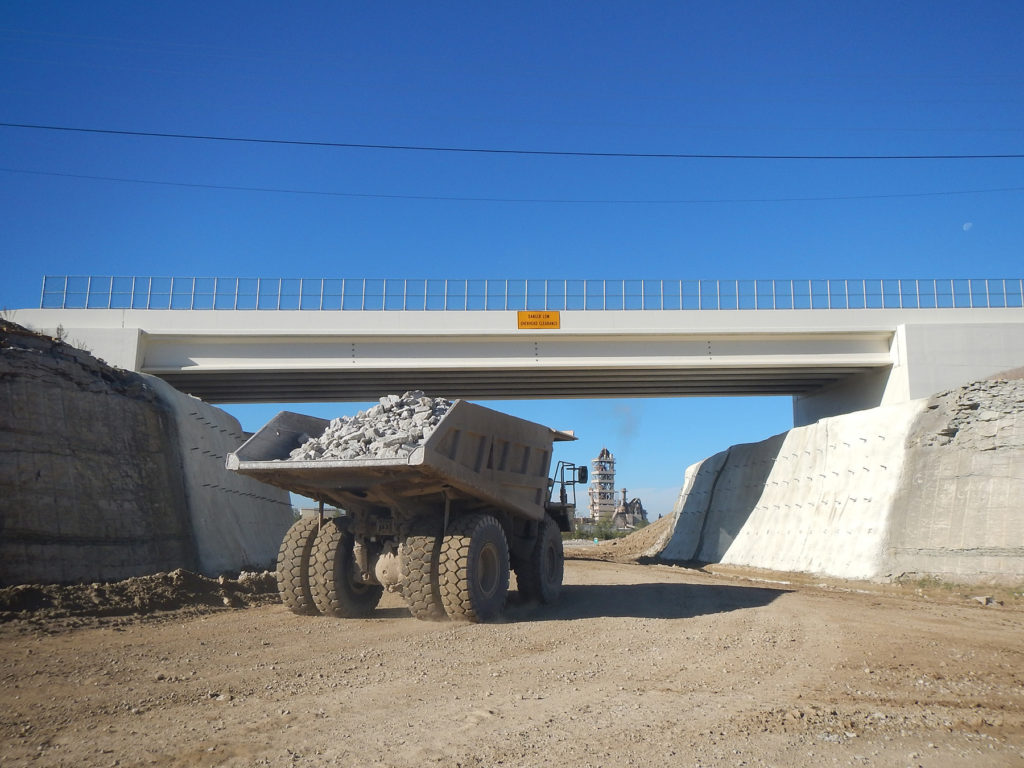 LJB SR235 Bridge Underpass with Truck