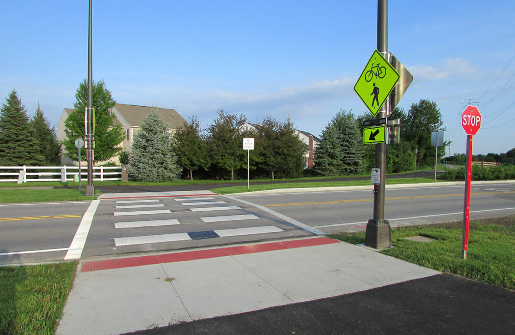 pedestrian crosswalk designed by LJB