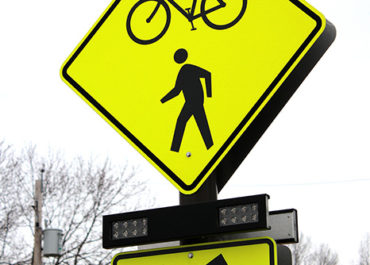 pedestrian safety sign in Ohio