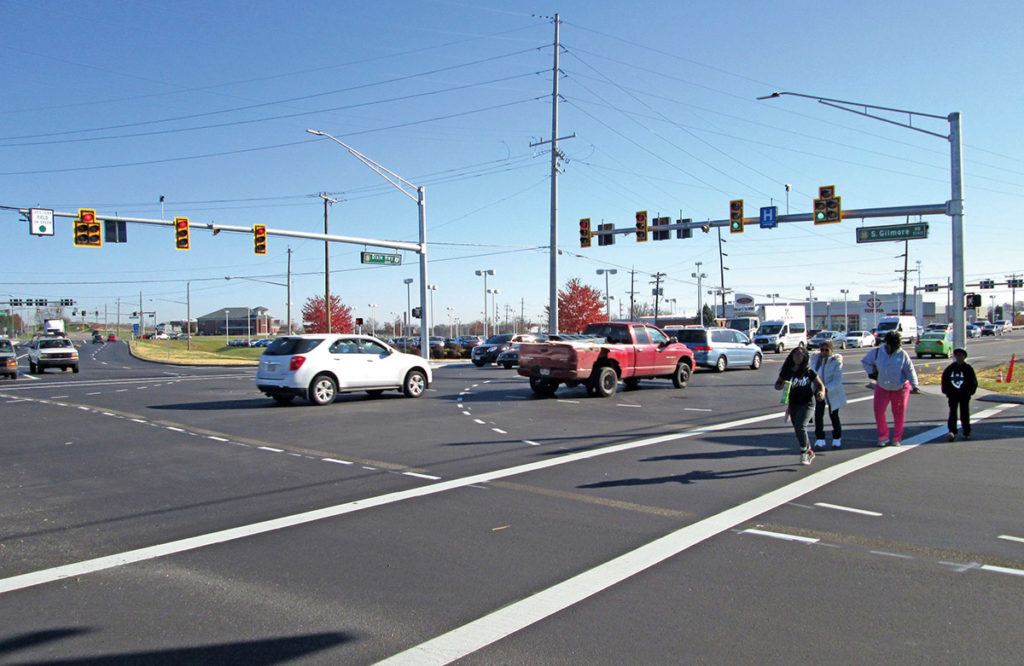 pedestrian-friendly intersection designed by LJB