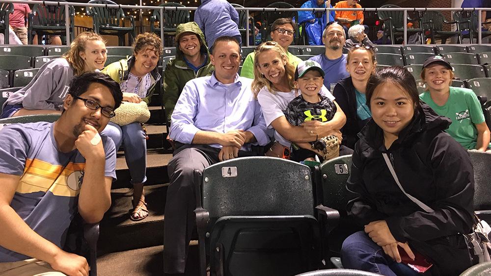 LJB employees at Dayton Dragons baseball game