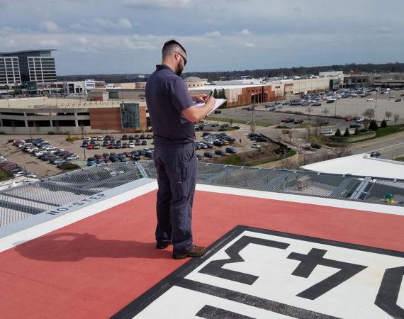 LJB team performing fall hazard risk assessments for BSMH